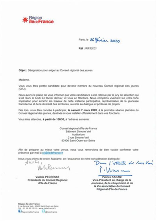 邵爱伦成为首位法国法兰西岛大区青年议会华裔议员